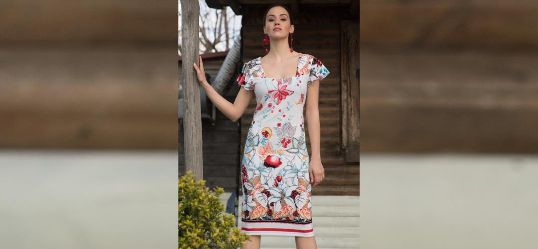 b6921c7e272f Φόρεμα Floral 2179 - Lamazi store Προϊόντα υψηλής ποιότητας και ...