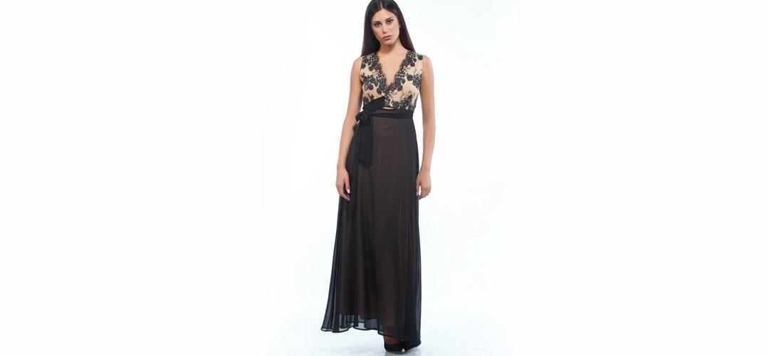 4b2c73eeede7 Φόρεμα Maxi Κρουαζέ Δαντέλα 019-148 - Lamazi store Προϊόντα υψηλής  ποιότητας και χρηστικά.